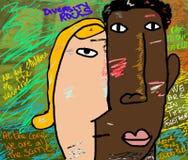 Rocce di diversità Fotografia Stock