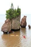 Rocce di Hopewell, Nuovo Brunswick Fotografia Stock