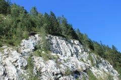 Rocce di marmo bianche Immagine Stock