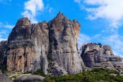 Rocce di Meteora Fotografia Stock