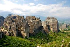 Rocce di Meteora, Grecia Fotografie Stock Libere da Diritti