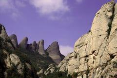 Rocce di Montserrat Fotografia Stock Libera da Diritti