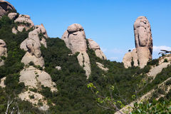 Rocce di Montserrat di estate Immagine Stock