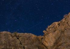 Rocce di notte Fotografia Stock