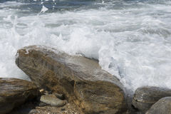 Rocce di Pedras Submersas_Submerged Fotografia Stock
