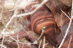 Rocce di PETRA, Giordano fotografie stock