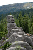 Rocce di Pielgrzymy in montagne di Karkonosze Fotografia Stock
