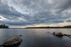 Rocce di Shoreline Fotografia Stock