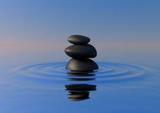 Rocce di zen su acqua Fotografie Stock Libere da Diritti
