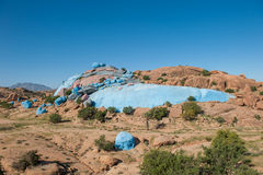 Rocce dipinte, Tafraoute, Marocco fotografie stock