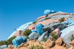 Rocce dipinte, Tafraoute, Marocco immagine stock