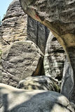 Rocce e cielo dell'arenaria Fotografia Stock Libera da Diritti