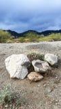 Rocce e deserto Fotografia Stock