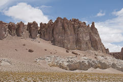 Rocce e deserto della sabbia, Cile Fotografia Stock