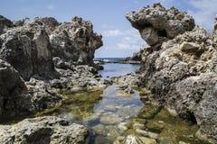 Rocce e mare Fotografia Stock