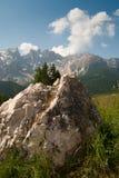 Rocce e montagne nel Tirolo del sud Immagini Stock