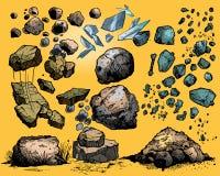 Rocce e pietre di volo Immagine Stock