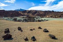 Rocce e sabbia in Tenerife, Spagna Viste marziane Fotografia Stock Libera da Diritti