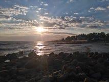 Rocce e sole del porto di Metall Fotografia Stock Libera da Diritti