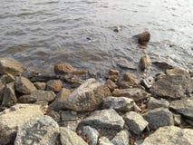 Rocce e spiaggia fotografie stock libere da diritti
