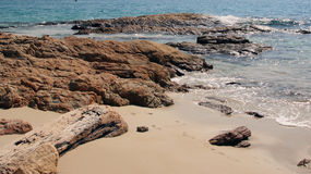 Rocce e spiaggia Koh Samed Fotografia Stock Libera da Diritti