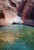 Rocce ed acqua australiane di entroterra immagini stock libere da diritti