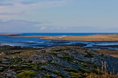 Rocce ed autunno in Islanda Fotografie Stock