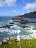 Rocce ed onde offshore Fotografia Stock Libera da Diritti