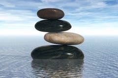 Rocce equilibrate Fotografia Stock