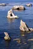 Rocce fuori della spiaggia California di Pismo Immagine Stock