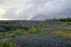 rocce fuse della lava dell'Hawai di flusso immagini stock libere da diritti