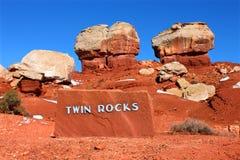 Rocce gemellare della scogliera Utah di Campidoglio fotografie stock libere da diritti