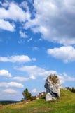 Rocce giurassiche del calcare - Giura polacco Immagine Stock