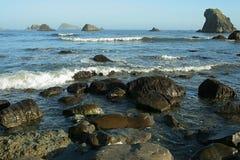 Rocce litoranee, Oregon Fotografia Stock