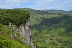 Rocce in montagna Immagini Stock