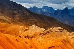 Rocce Moonland, montagne himalayane, paesaggio del ladakh a Leh Fotografia Stock Libera da Diritti