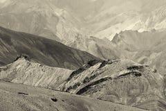 Rocce Moonland, montagne himalayane, paesaggio del ladakh a Leh, Jammu Kashmir, India Immagini Stock Libere da Diritti