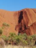 Rocce nel centro rosso australiano Fotografia Stock Libera da Diritti