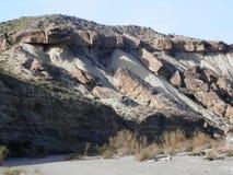Rocce nel deserto di Tebernas Fotografia Stock