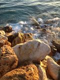 Rocce nel mare Fotografia Stock