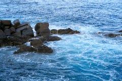 Rocce nel mare, Madera fotografia stock