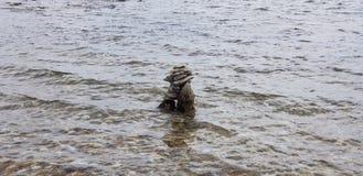 Rocce nell'oceano Fotografia Stock