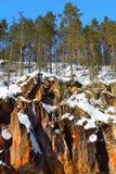 Rocce in Oulanka Fotografia Stock Libera da Diritti