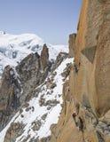 Rocce rampicanti della montagna, Mont Blanc Immagine Stock Libera da Diritti