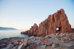 Rocce Rosse Arbatax, Sardinia zdjęcia royalty free