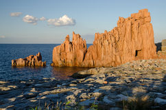 Rocce Rosse, Arbatax, Sardinia Royalty Free Stock Photos