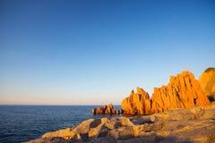 Rocce Rosse Arbatax, Sardinia fotografia royalty free