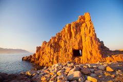 Rocce Rosse Arbatax, Sardinia zdjęcie royalty free