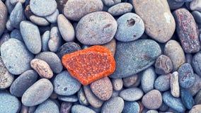 Rocce rosse, grige, gialle e blu Fotografia Stock Libera da Diritti