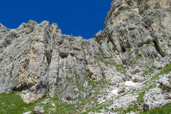 Rocce sceniche delle alpi della dolomia Fotografie Stock Libere da Diritti